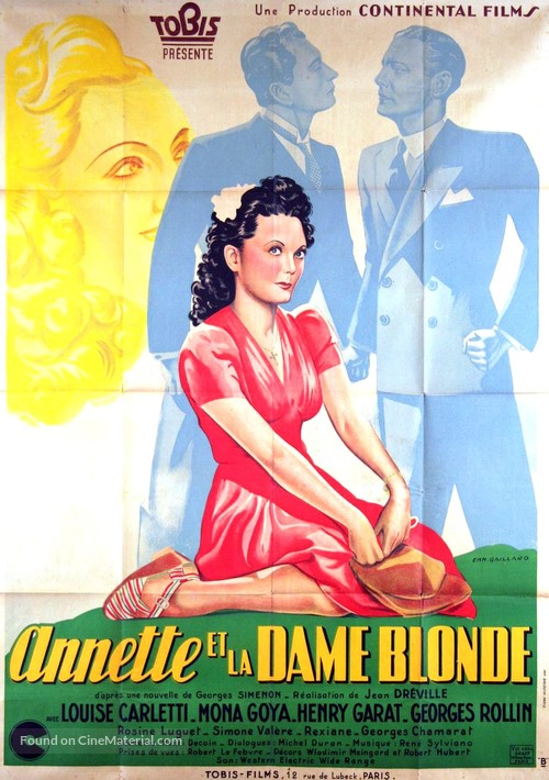 Annette et la dame blonde - French Movie Poster