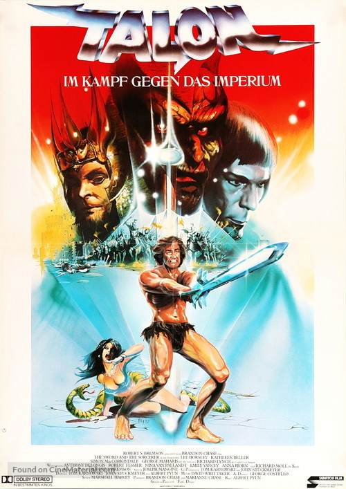 the sword and the sorcerer german movie poster