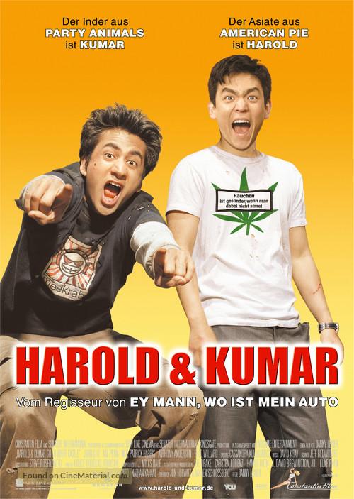 Harold & Kumar Go to White Castle - German Movie Poster