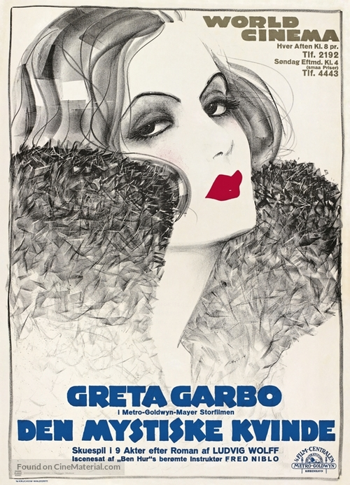 The Mysterious Lady - Danish Movie Poster