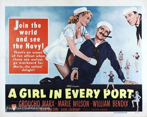 A Girl in Every Port - Movie Poster